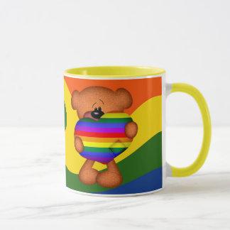 Pride Heart Teddy Bear Mug