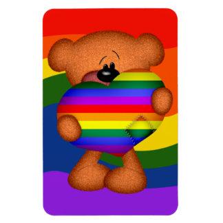 Pride Heart Teddy Bear Rectangular Photo Magnet