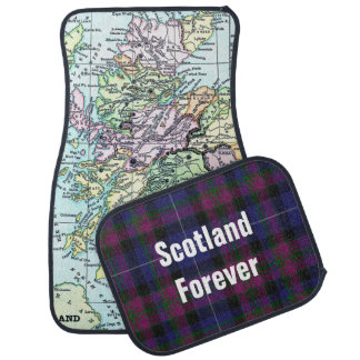 Pride of Scotland Map Car Mat Set