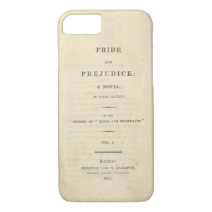 Pride & Prejudice Title Page Phone Case