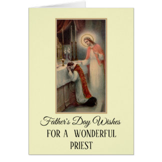 Priest Pastor Father's Day Greeting Card