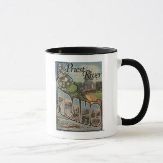 Priest River, Idaho - Large Letter Scenes Mug