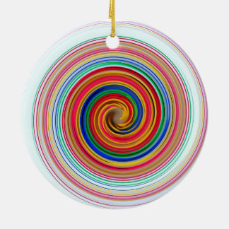 Primary Color Swirls Christmas Ornament