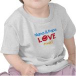 Primary Colours Nana and Papa Love Me Shirts