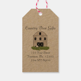 Primitive Barn Gift Tags
