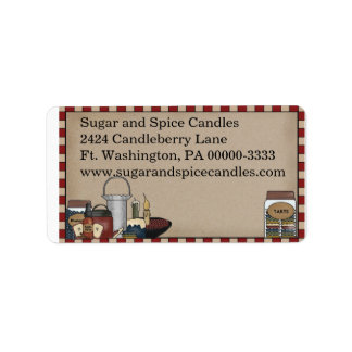 Primitive Country Candle Return Address Label
