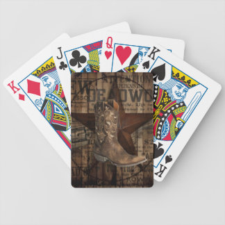 Primitive Star Grunge Western Country Cowboy Bicycle Playing Cards