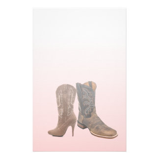 primitive western country cowboy boot stationery
