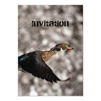Primitive Western Country waterfowl wood duck Card