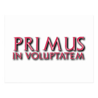 primus in voluptatem latin post card