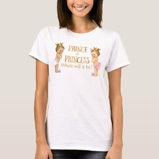 Prince and Princess Gender Reveal T-Shirt