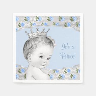Prince Baby Shower Paper Napkin