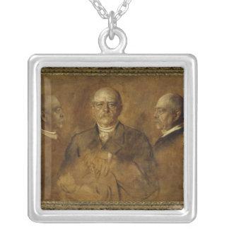 Prince Otto von Bismarck, 1884 Silver Plated Necklace