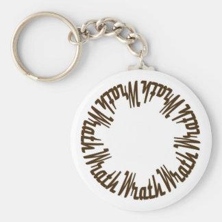 Prince Paulson - Seven Deadly Sins - WRATH Basic Round Button Key Ring