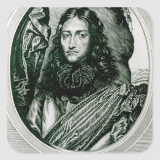 Prince Rupert of the Rhine engraved by William Square Sticker