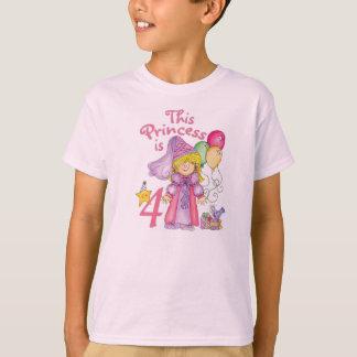 Princess 4th Birthday T-Shirt