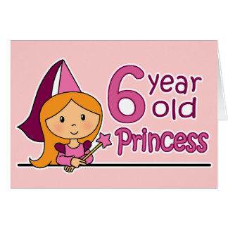 6 years old greeting cards zazzle princess age 6 card bookmarktalkfo Choice Image