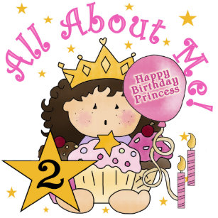 Princess All About Me 2nd Birthday Card
