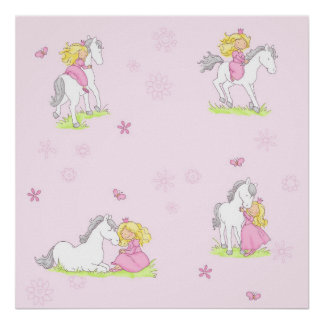 Princess and her Horse Poster