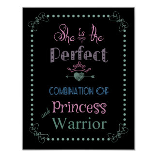 Princess and Warrior Poster