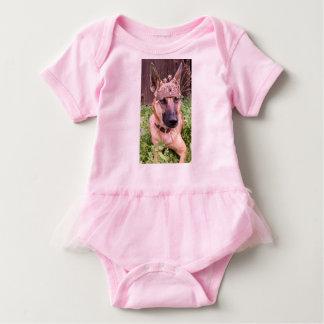 Princess Belgian Malinois Dog Baby Bodysuit