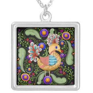 Princess Birdie w/Background Necklace