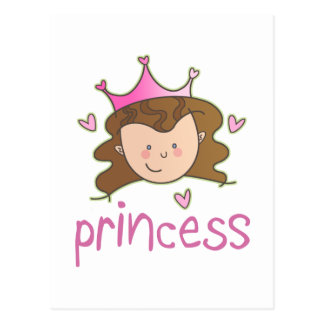 Princess Brunette Postcard