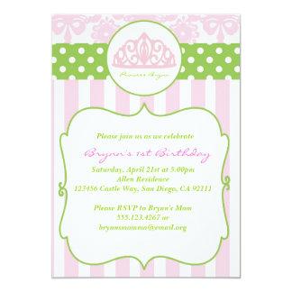 Princess Crown Birthday Party Invitation Pink