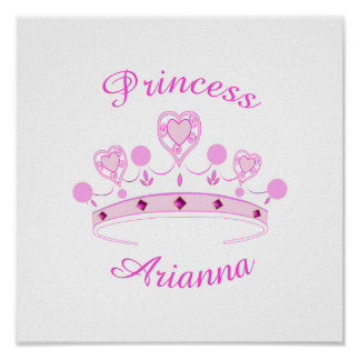 Princess Crown Personalized Poster