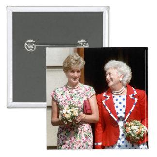 Princess Diana-Barbara Bush 15 Cm Square Badge