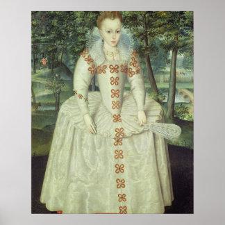 Princess Elizabeth (1596-1662) 1603 (oil on canvas Poster