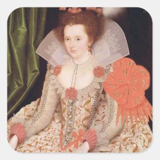 Princess Elizabeth, daughter of James I, 1612 Square Sticker