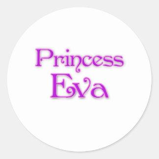 Princess Eva Classic Round Sticker
