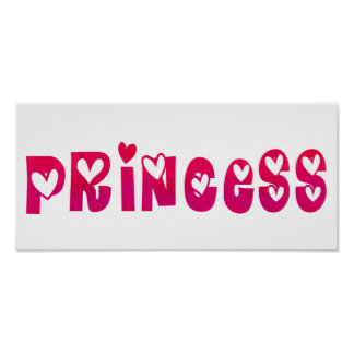 Princess in Hearts Poster