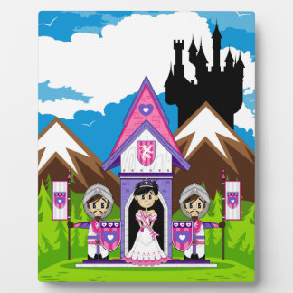 Princess & Knights at Mini Castle Plaque