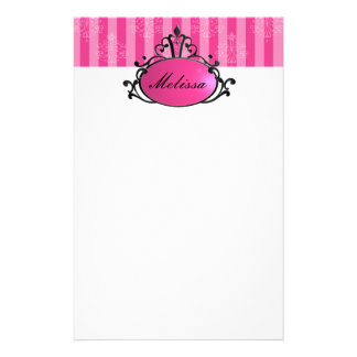 Princess Name Filigree Stationery
