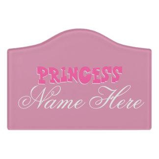 "Princess ""Name"" Small Room Sign, Foam Adhesive Door Sign"