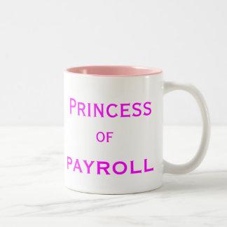 Princess of Payroll Woman Manager Job Title Two-Tone Mug