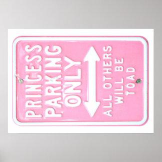 Princess Parking Poster