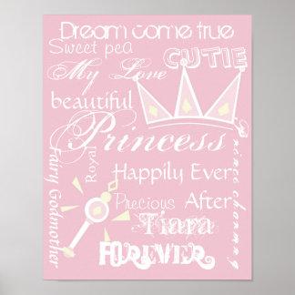 Princess room decor poster