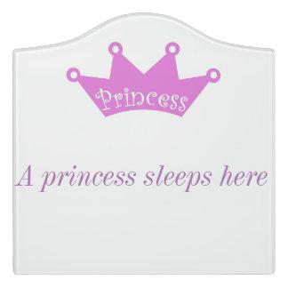Princess sign door sign
