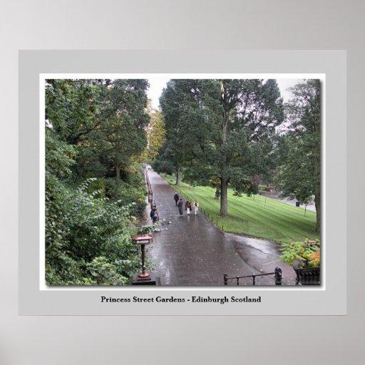 Princess Street Gardens - Edinburgh Scotland Posters