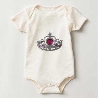 Princess Tiara Crown Baby Bodysuit
