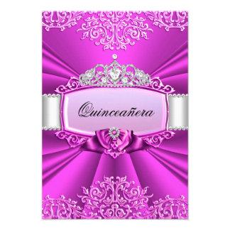 Princess Tiara Damask Quinceanera Invitation Custom Announcements