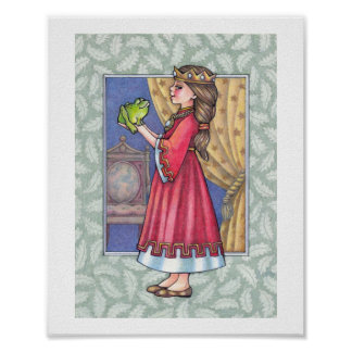 Princess with frog posters