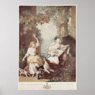 Princesses Mary , Sophia  and Amelia Poster