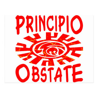 Principio Obstate Latin Resist From The Beginng Postcard