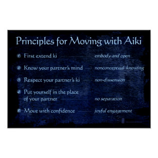 Principles for Moving with Aiki Poster