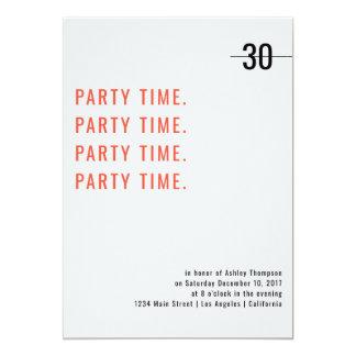 Print Design Birthday Invitation