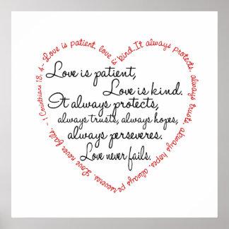 Print - Love is Patient Word Heart